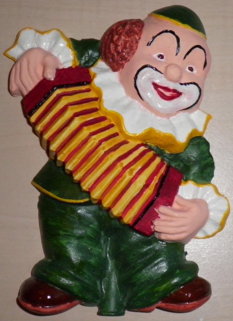 Giessbild Clown mit Handorgel