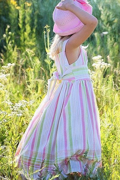 Kinderkleid ändern