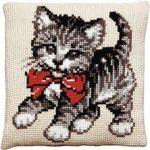 Kreuzstich-Kissenhuellen-Katze