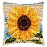 Kreuzstich-Kissenhuellen-Sonnenblume