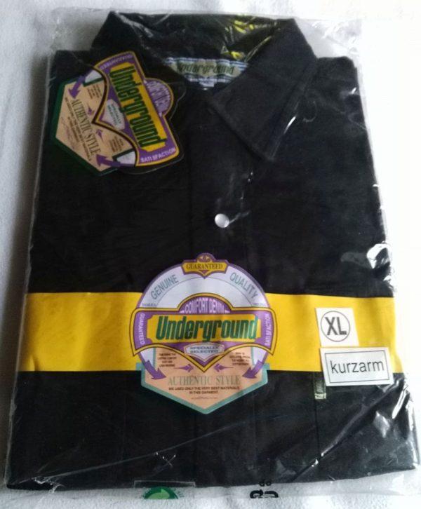 Hemd XL Kurzarm Schwarz