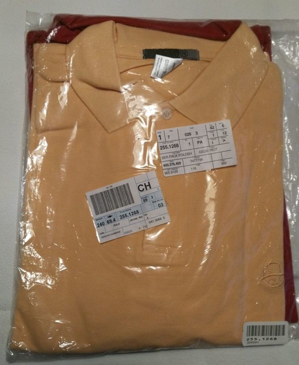PoloShirt gelb-rot