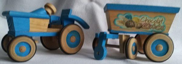 Traktor blau 2