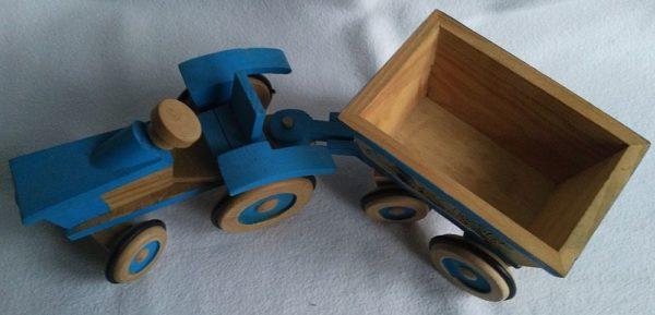 Traktor blau 3