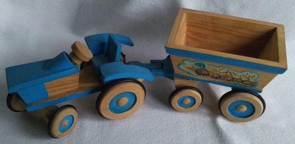 Traktor blau